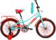 Детский велосипед Forward Azure 20 2021 / 1BKW1C101004 (зеленый/красный) -