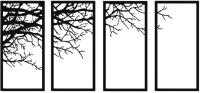 Декор настенный Arthata Крона дерева 160x75-B / 020-4 -