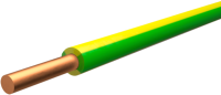 Провод силовой Ecocable ПуВ-1x1.5 (100м, желтый/зеленый) -