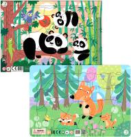 Набор пазлов Dodo Лисята. Панды -