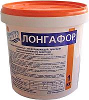 Средство для бассейна дезинфицирующее Маркопул Кемиклс Лонгафор таблетки по 200гр в банке (1кг) -