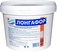 Средство для бассейна дезинфицирующее Маркопул Кемиклс Лонгафор таблетки по 200гр в ведре (2.6кг) -