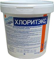 Средство для бассейна дезинфицирующее Маркопул Кемиклс Хлоритекс - ударный хлор гранулы в ведре (1кг) -