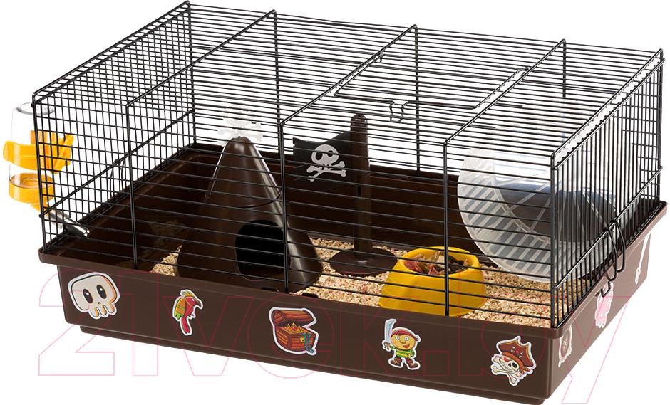 Купить Клетка для грызунов Ferplast, Criceti 9 Pirates / 57009061, Италия, коричневый