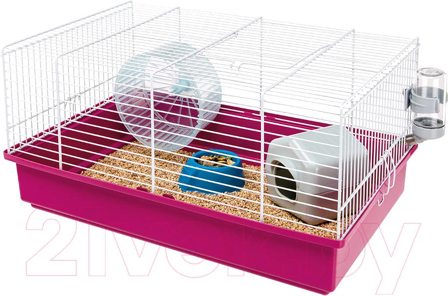Купить Клетка для грызунов Ferplast, Criceti 9 / 57009411 (розовый), Италия, белый
