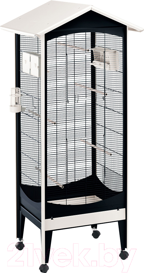 Купить Клетка для птиц Ferplast, Brio Mini / 56109514, Италия, белый