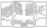Декор настенный Arthata Кроны любви 100x60-V / 024-3 -