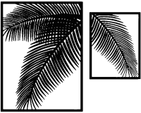 Декор настенный Arthata Папоротник 100x80-B / 027-2 -