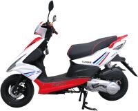 Скутер Vento Corsa (красно-белый) -