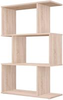 Стеллаж Polini Kids Home Smart Фигурный 3 секции / 0002271.68 (дуб) -