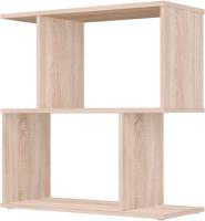 Стеллаж Polini Kids Home Smart Фигурный 2 секции / 0002270.68 (дуб) -