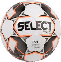 Мяч для футзала Select Futsal Master (размер 4, белый/оранжевый/черный) -
