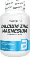 Витаминно-минеральный комплекс BioTechUSA Calcium Zinc Magnesium Кальций-магний-цинк / CIB00 (100 таблеток) -