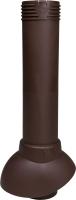 Выход вентиляционный на крышу Vilpe 110/500 RR32 / 741124 (коричневый) -