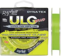 Леска плетеная Rapture Dyna-Tex ULG Lime 100 0.06мм / 054-60-006 -