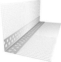 Уголок штукатурный Ecotex А-022-18.5-3000-75 с сеткой -