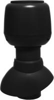 Выход вентиляционный на крышу Vilpe С колпаком 110/200 / 741312 (черный) -