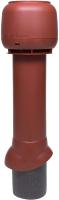 Выход вентиляционный на крышу Vilpe 125/ИЗ/700 RR29 / 734438 (красный) -