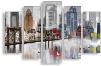 Картина модульная Citydecor 17.4 (200x90) -