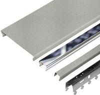 Комплект потолка подвесного Албес A100AS + A25AS (1.7x1.7м, металлик/хром) -