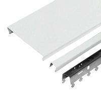 Комплект потолка подвесного Албес AN85A (1.7x1.7м, белый/золото) -
