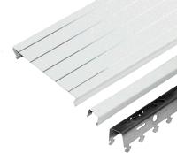 Комплект потолка подвесного Албес A100AS (1.35x0.9м, белый жемчуг с металлической полосой) -