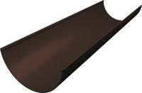 Желоб водостока Grand Line Английский Стандарт ПВХ RR 32 (3м, коричневый) -