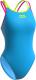 Купальник для плавания Mad Wave Crossback (XS, голубой) -