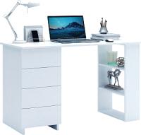 Письменный стол MFMaster Уно-5 / МСТ-УСК-05-БТ-16 (белый) -