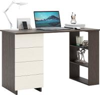 Письменный стол MFMaster Уно-5 / МСТ-УСК-05-ВД-16 (венге/дуб молочный) -