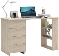 Письменный стол MFMaster Уно-5 / МСТ-УСК-05-ДС-16 (дуб сонома) -