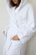 Халат для бани Блакiт Длинный с капюшоном женский / 13С-0514 (р-р 46-52) -