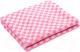 Одеяло детское Ермошка 100x140 / 57-3ЕТ (розовая клетка) -