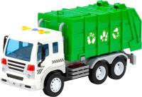 Мусоровоз игрушечный Полесье Сити коммунальный / 86389 (инерционный, зеленый) -
