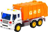 Мусоровоз игрушечный Полесье Сити коммунальный / 86426 (инерционный, оранжевый) -