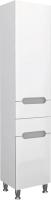 Шкаф-пенал для ванной Ванланд Стиль StР-40L (серая вставка, с корзиной) -