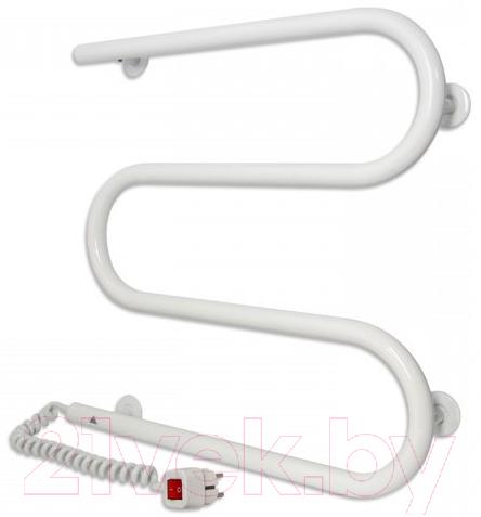 Купить Полотенцесушитель электрический Laris, М-образный 25 ПС3 ЧК3 500x500 (левый), Украина, белый, нержавеющая сталь AISI 304
