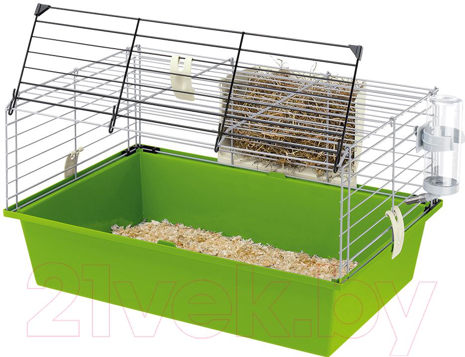 Купить Клетка для грызунов Ferplast, Cavie 60 / 57012411W2 (салатовый), Италия