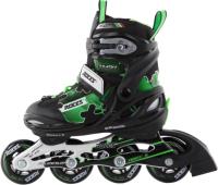 Роликовые коньки Roces 23L11SM6SF / S20ERCRS003-BU (р-р 36-40, черный/зеленый) -