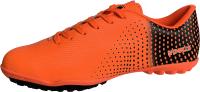 Бутсы футбольные Novus NSB-22 TURF (оранжевый/черный, р-р 44) -