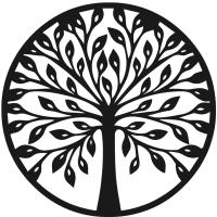 Декор настенный Arthata Дерево Познания 35x35-B / 003-1 (черный) -
