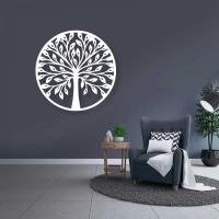 Декор настенный Arthata Дерево Познания 35x35-V / 003-1 (белый) -