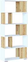 Стеллаж Сокол-Мебель СТ-12 (белый/дуб делано) -