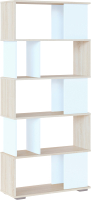 Стеллаж Сокол-Мебель СТ-12 (дуб сонома/белый) -