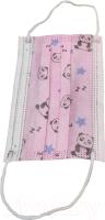 Маска защитная одноразовая Profi Розовые панды трехслойная детская (50шт) -