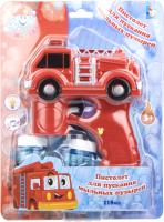 Набор мыльных пузырей 1Toy Пистолет для мыльных пузырей. Пожарная машина / Т17278 -