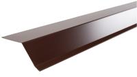 Планка ветровая Технониколь 75x70x10x2000 (2 м.п., коричневый) -