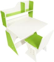 Парта+стул Я сам Классик (белый/зеленый) -