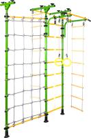 Детский спортивный комплекс Юный Атлет Пол-потолок-Т с сеткой (зеленый) -