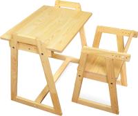 Парта+стул Я сам Лео (сосна) -